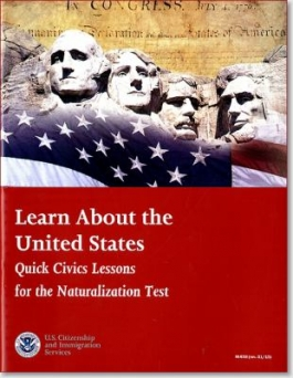 Cover of Learn About the United States, an audiobook available through DPL