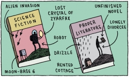 Cartoon by Tom Gauld: http://angryrobotbooks.com/2011/05/a-natter-with-damned-bu