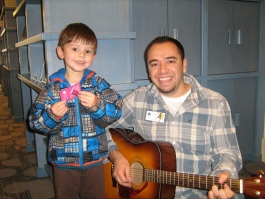 Liam and Children's Librarian, Chufo Ramirez