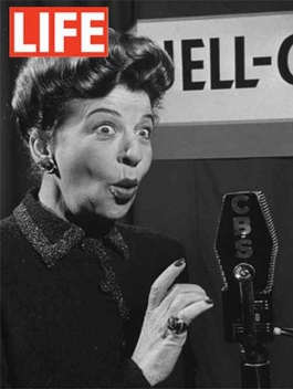 Fanny Brice spelling out Jell-O in Baby Snooks voice - Martha Holmes, 1946