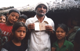 Bhutanese refugees in the Beldangi camp, Nepal