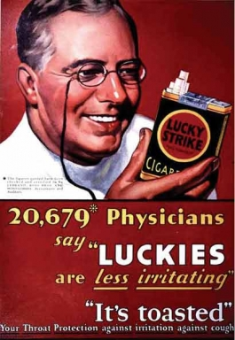 Luckies cigarette ad