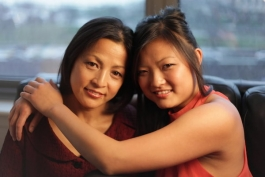 Jian Ping (left) and her daughter Lisa Xia (right).