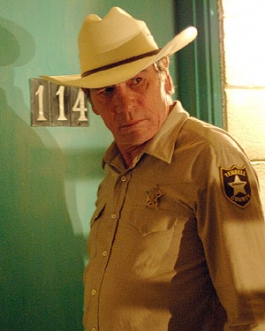 Tommy Lee Jones in the Coen Brothers' No Country for Old Men.