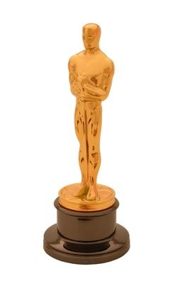 A photography of an Academy Award statuette