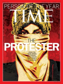 Time Magazine cover - The Protestor