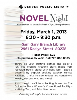 Novel Night 2013