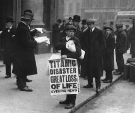 An iconic image from days after the sinking of the Titanic.