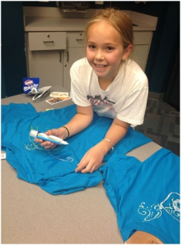Alyssa Working on Her Bleach Pen T-Shirt