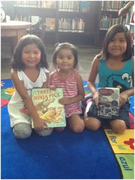Jenuine, Aleia, and Nayah S. at Byers Branch Library