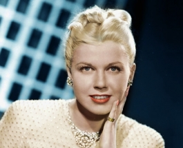 An early studio portrait of Doris Day.