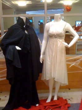 Ballet costumes on display in Schlessman Hall