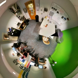panorama of the Denver Public Library's ideaLAB