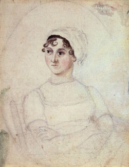 The only known portrait of Jane Austen, looking slightly crabby.