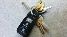 Photo of car keys.