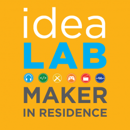 the ideaLAB logo, in all it's CMYK glory
