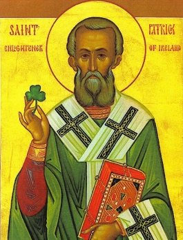 St. Patrick was born in Roman-occupied Great Britain ca. 390..