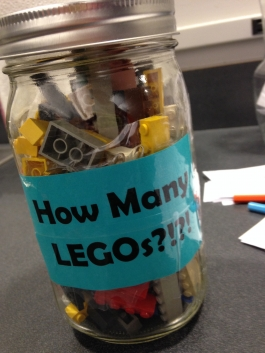 How many LEGOs do you think are in this jar?