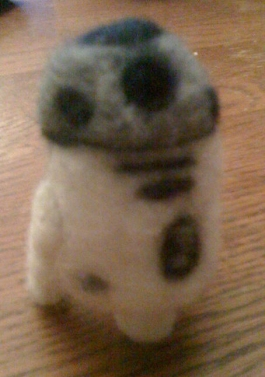 Needle Felted R2D2 droid