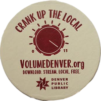 Volume Denver drink coaster