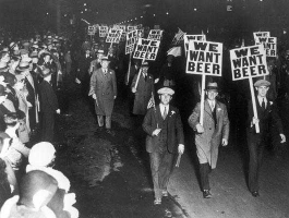 "photo prohibition demonstration ""We want beer"""