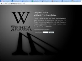 Wikipedia's page on internet blackout day.
