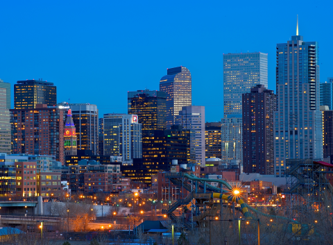 Denver skyline image
