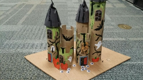 Upcycled Spooky Castle