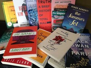 Photo of several books on a table