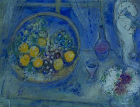 Marc Chagall, Still Life with Oranges (1954) 2011.360.
