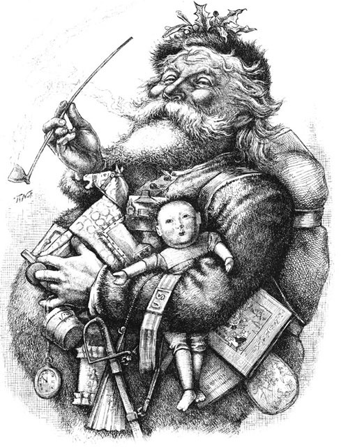Image result for thomas nast santa